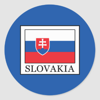 Adesivo Redondo Slovakia
