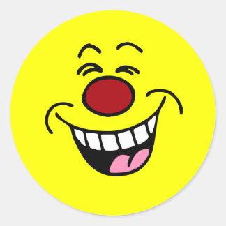 Adesivo Redondo Smiley de zombaria do smiley face
