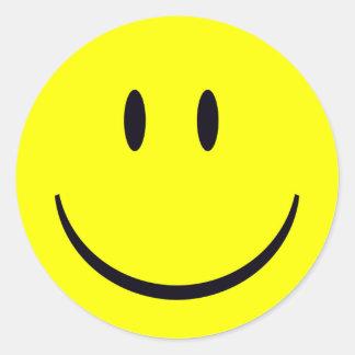 Adesivo Redondo Smiley face