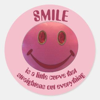 Adesivo Redondo Smiley face do batom