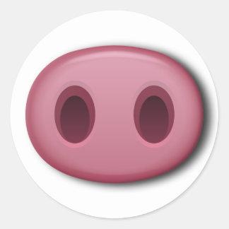 Adesivo Redondo Snout de PinkPig