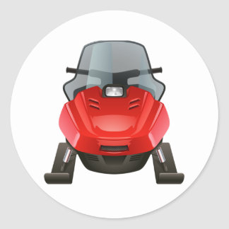 Adesivo Redondo Snowmobile