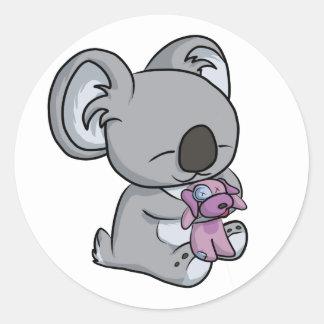 Adesivo Redondo Snuggles doces! Koala