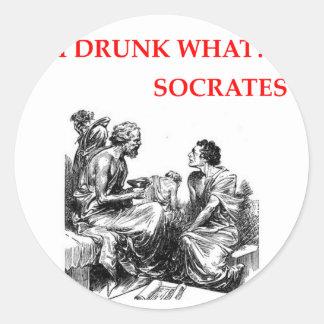 Adesivo Redondo Socrates