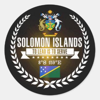Adesivo Redondo Solomon Island