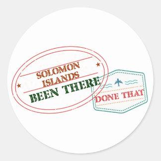 Adesivo Redondo Solomon Island feito lá isso