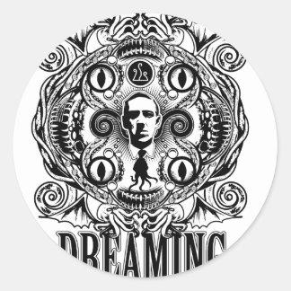 Adesivo Redondo Sonhos de Lovecraftian