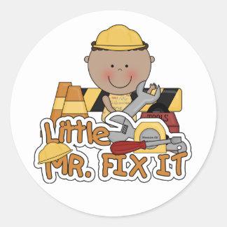 Adesivo Redondo Sr. pequeno Fixação Construção Camiseta e