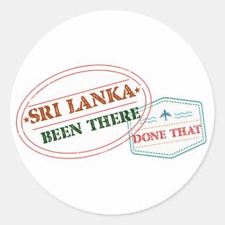 Adesivo Redondo Sri Lanka feito lá isso