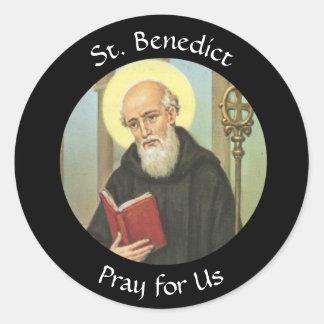 Adesivo Redondo St. Benedict banquete o 11 de julho