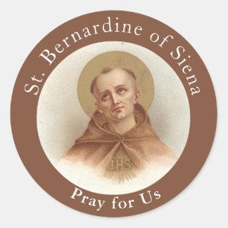 Adesivo Redondo St. Bernardine de Siena, sacerdote católico