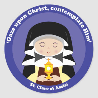 Adesivo Redondo St. Clare de Assisi