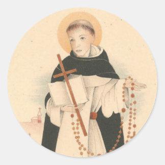 Adesivo Redondo St Dominic com o rosário