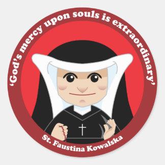 Adesivo Redondo St. Faustina Kowalska