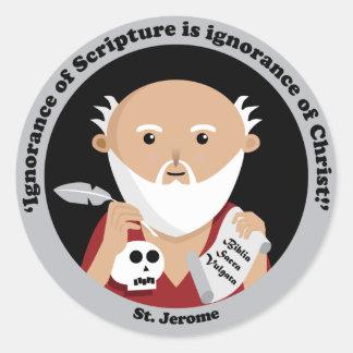 Adesivo Redondo St Jerome
