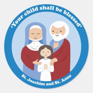 Adesivo Redondo St. Joachim e St Anne