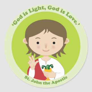 Adesivo Redondo St John o apóstolo