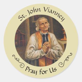 Adesivo Redondo St John Vianney banquete o 4 de agosto