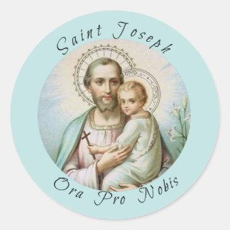 Adesivo Redondo St Joseph, criança Jesus, funcionarios do lírio,