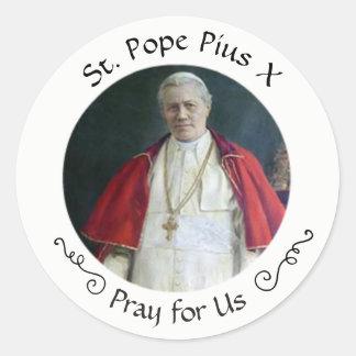 Adesivo Redondo St. Papa Pius X