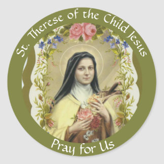 Adesivo Redondo St. Therese da criança Jesus
