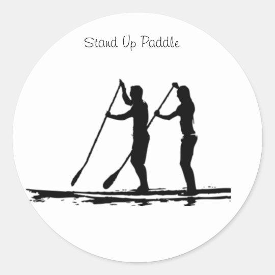 Adesivo Redondo stand up paddle