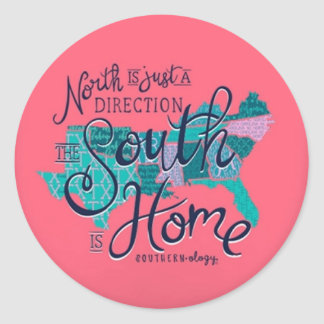 Adesivo Redondo sticker north is just a direction the