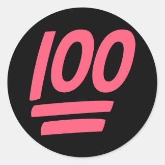 Adesivo Redondo Sucesso perfeito 100!