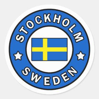 Adesivo Redondo Suecia de Éstocolmo