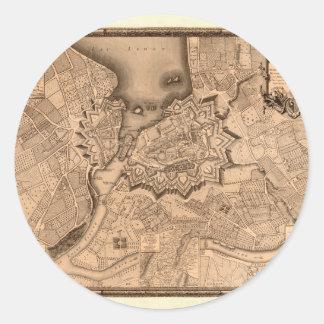 Adesivo Redondo Suiça 1773 de Genebra
