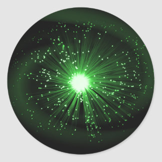 Adesivo Redondo Sumário da fibra óptica