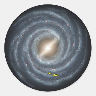 Adesivo Redondo Sun na NASA da Via Láctea