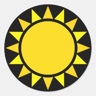 Adesivo Redondo Sun perfeito Emoji
