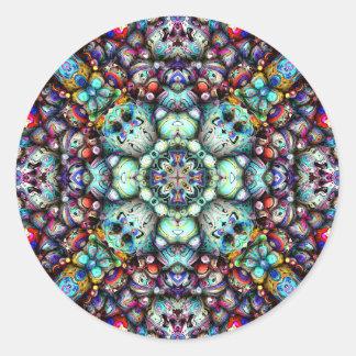 Adesivo Redondo Superfícies estruturais da simetria