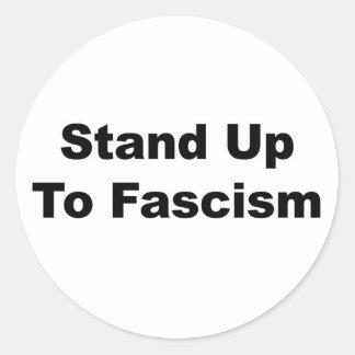 Adesivo Redondo Suporte até o fascismo