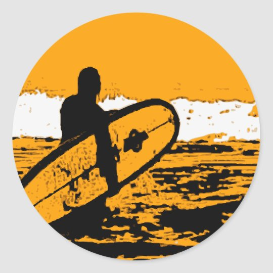 Adesivo Redondo Surf III