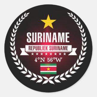 Adesivo Redondo Suriname