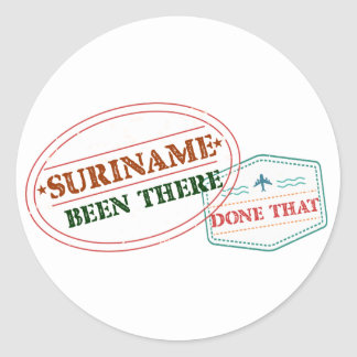 Adesivo Redondo Suriname feito lá