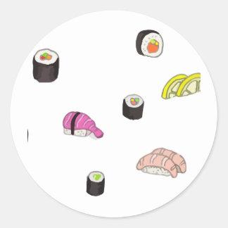 Adesivo Redondo Sushi e Sashimi