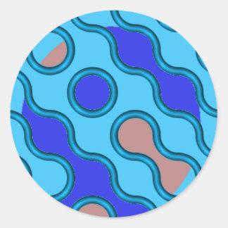Adesivo Redondo swirly