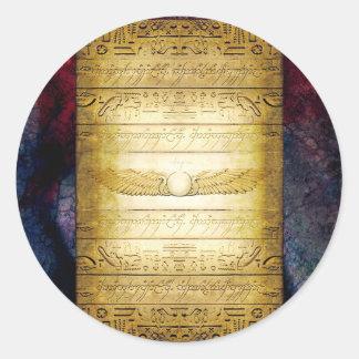 Adesivo Redondo Tabuleta do egípcio V042