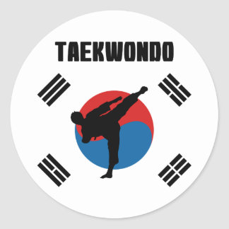 Adesivo Redondo Taekwondo