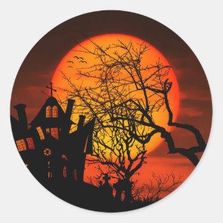 Adesivo Redondo Tag do presente do Dia das Bruxas