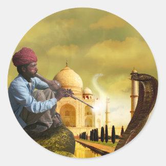 Adesivo Redondo Taj Mahal