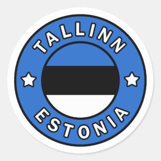 Adesivo Redondo Tallinn Estónia