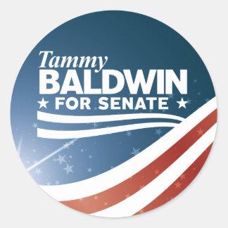 Adesivo Redondo Tammy Baldwin