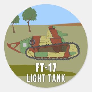 Adesivo Redondo Tanques de WWI: Carro de combate leve FT-17