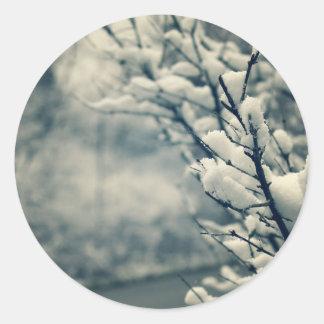 Adesivo Redondo Tapete do rato nevado da árvore