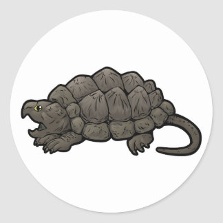Adesivo Redondo Tartaruga de agarramento do jacaré