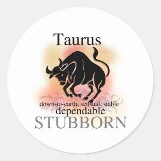 Adesivo Redondo Taurus sobre você